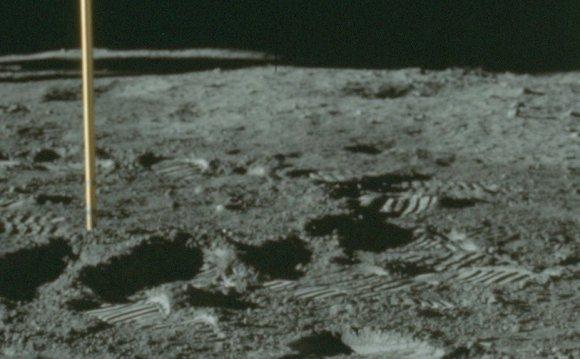 Apollo moon mission photo