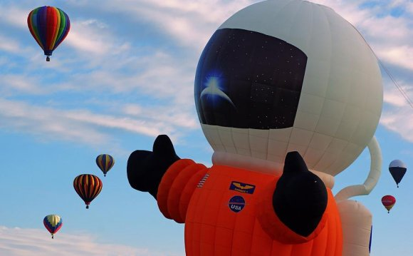 Astronaut Balloon Photograph