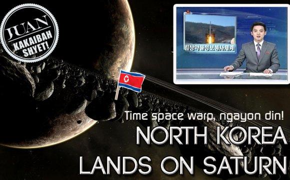 North Korean astronauts land