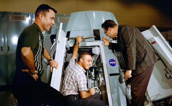 Astronauts Virgil I. Grissom