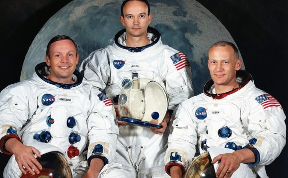 Astronauts from left