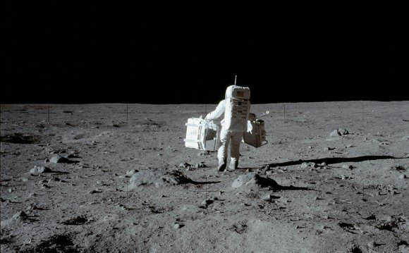 Russian astronauts On the moon