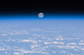 Image of Moon from ISS