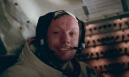 Neil Armstrong after historic moonwalk