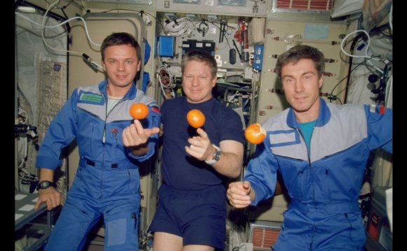Astronauts on the International Space Station