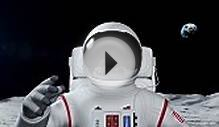 Astronaut On The Moon Surface Stock Footage Video | Getty