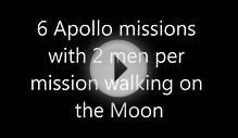 How many men have walked on the moon?