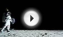 Ws Slo Mo Astronaut Walking On The Moon Holding Balloon